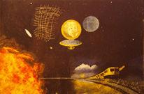 Malerei, Magritte, Surreal, Vernunft