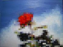Figural, Rose, Pixel, Raster
