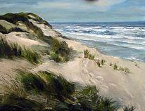 Spuren, Landschaft, Malerei