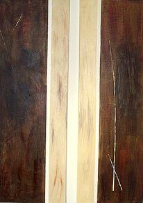 Beige, Malerei, Modern, Braun
