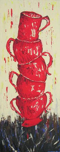 Rot, Acrylmalerei, Stillleben, Malerei