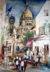 Acrylmalerei, Paris, Digital, Digitale kunst