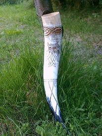 Horn, Methorn, Hornschnitzerei, Gravuren
