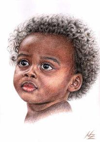 Afrika, Gesicht, Baby, Farben
