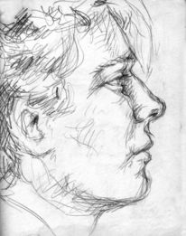 Zeichnen, Nase, Profil, Gesicht