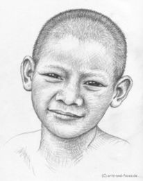 Kind, Gesicht, Portrait, Thai