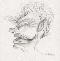 Bleistiftzeichnung, Karikatur, Zeichnung, Portrait