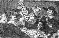 Karikatur, Feder, Katze, Anatomie