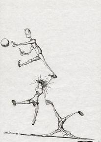 Cartoon, Ball, Tusche, Zusammenarbeit