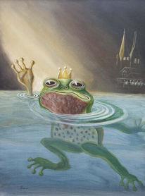 Figural, Frosch, Malerei, Tiere