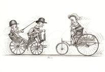 Zeichnung, Benz, Auto, Daimler
