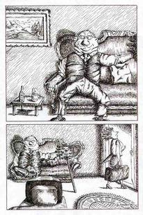 Ehe, Karikatur, Mann, Cartoon