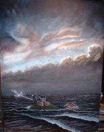 Nordsee, Rom, Acrylmalerei, Kuh