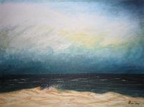 Hund, Landschaft, Meer, Malerei