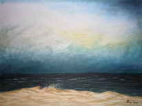 Malerei, Meer, Romantik, Himmel