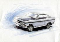 Zeichnung, Marker, Rallye, Dynamik