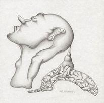 Menschen, Portrait, Bleistiftzeichnung, Kopf