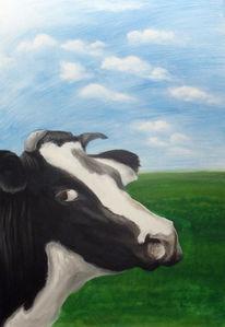 Tiere, Portrait, Acrylmalerei, Figural