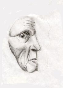 Skizze, Maske, Augen, Gesicht