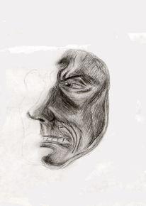 Gesicht, Blick, Menschen, Zeichnung