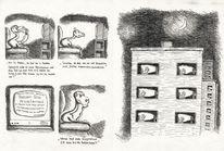 Karikatur, Kabelfernsehen, Federzeichnung, Cartoon
