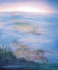 Fisch, Wasser, Malerei, Metamorphose