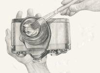Objektiv, Bleistiftzeichnung, Fotografie, Zeichnung