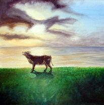Himmel, Wolken, Malerei, Tiere
