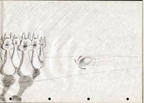 Skizze, Ovale, Kegel, Bleistiftzeichnung