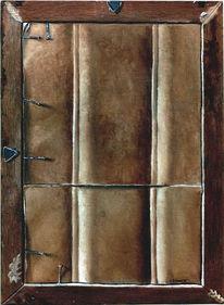 Malerei, Rückseite, Stillleben, Rahmen