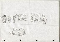 Karikatur, Skizze, Militär, Cartoon