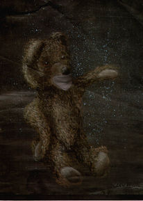 Bär, Universum, Gouachemalerei, Malerei