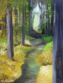 Gelb, Malerei, Grün, Landschaft