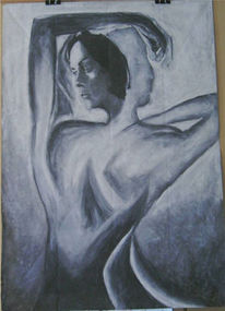 Schwarz weiß, Surreal, Frau, Picasso