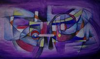 Malerei, Abstrakt, Ziehen