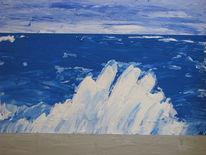 Abstrakt, Malerei, Eismeer