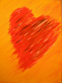 Malerei, Gelb, Rot, Liebe