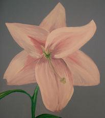 Acrylmalerei, Malerei, Blumen, Lilien