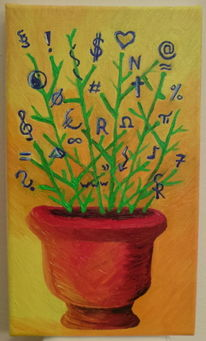Grenze, Blumen, Malerei, Zeichen