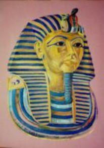 Figural, Totenmaske, Pharao, Ägypten