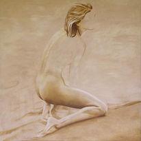 Acrylmalerei, Figural, Malerei, Strand