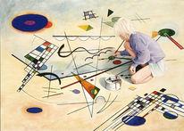 Kind, Realismus, Figural, Aquarellmalerei
