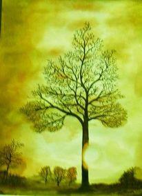Sonne, Baum, Stimmung, Rot