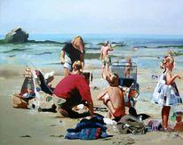 Malerei, Sonne, Strand, Figural
