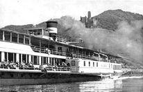 Schiff, Schwarz weiß, Boot, Rhein