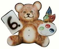 Bär, Schild, Airbrush, Teddy