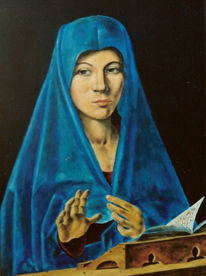 Gemälde, Verkündigung, Madonna, Ölmalerei