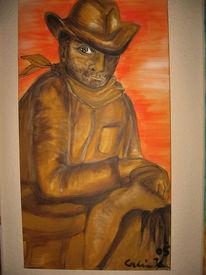 Cowboy, Malerei, Figural, Western