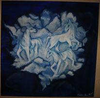 Pferde, Tiere, Malerei, Acrylmalerei