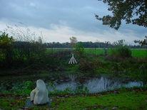 Skulptur, Garten, Biotop, Fotografie